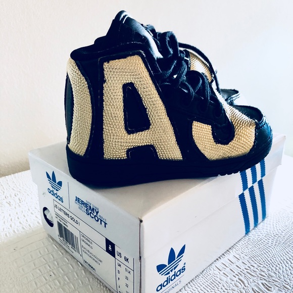 a4ded08130b8bf Jeremy Scott x Adidas Other - Adidas Jeremy Scott Letters Gold (Toddler) Sz6